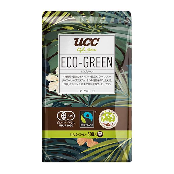 UCC ECO-GREEN ダークロースト(豆)500g